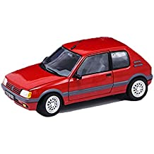 MUYB Car Model Die Casting Car 1:18 GTI Peugeot 205 1991 Modelo de Coche
