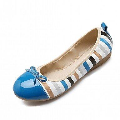 Wuyulunbi @ Zapatos Mujer Primavera Otoño Comfort Novedad Ligero Pisos Suelas Planas Redonda Punta Bowknot Para Ropa Casual Rosa Azul Naranja Us7.5 / Eu38 / Uk5.5 / Cn38