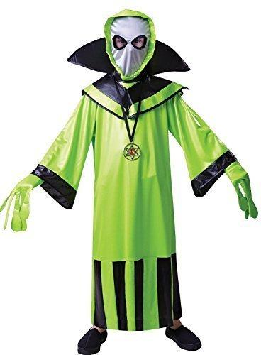 Jungen Mädchen 5 Stück Grün Alien Fach Marsmensch Büchertag Halloween Kostüm Kleid Outfit 4-12 jahre - Grün, 4-6 (Marsmensch Kostüm Alien)