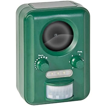 Voss Sonic 2000 regolabile ultrasuoni energia solare cane, gatto, animale, uccello Repeller - 100% Protegge il suo giardino - Repellente - Scaccia Gatti Caccia Volpi Conigli Founine dal tuo Giardino !