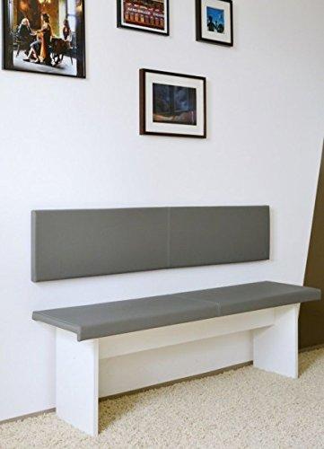 XXL Wandkissen 150cm inkl. Montage-Set Kunstleder 100.000 Scheuertouren made in Germany, Farbe:50188.1102 grau