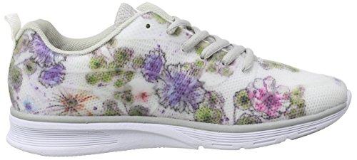 KangaROOS K- Light 8003 Damen Sneakers Weiß (white with flower print 094)