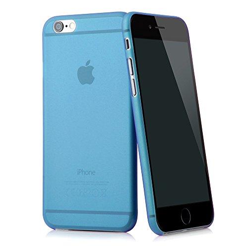 """QUADOCTA iPhone 6 PLUS (5,5"""") Ultra Slim Case - Schutzhülle - """"Tenuis"""" in Blau - Ultra dünne iPhone Hülle - Leicht transparentes Case Blau"""