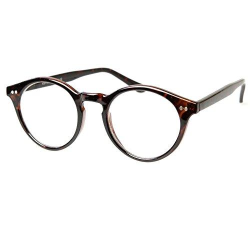 Preisvergleich Produktbild Neutrale Gläser KISS® - inspiriert von MOSCOT Stil Johnny Depp mod. WAVE - optischen Rahmen RETRO Mann Frau unisex - HAVANNA