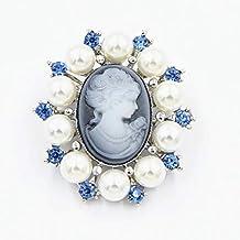 longsw Mode perla dama Cru camafeo estilo victoriano fiesta de boda broche broche