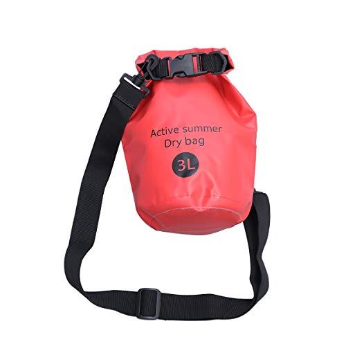 FENICAL 3L Mehrzweck Open Water Schwimmboje Ultraleichte Sicherheit Float Dry Bag Schwimmer Triathletes Surfers Outdoor (Schwarz) Einkaufstasche Geschenk
