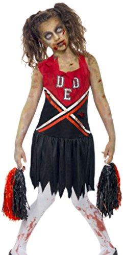 - Erwachsene Zombie Cheerleader Kleid, 164, Schwarz ()