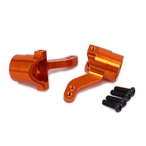 RCAWD Lenknabenförderer Vorderer Knöchel Aluminiumlegierung für Rc Hobbywagen 1/10 HPI WR8 Serie Flux 101208 2Pcs(Orange)