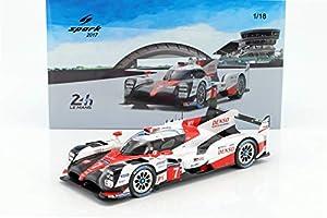 SPARK-Toyota-TS050Hybrid-Le Mans 2017Coche de ferrocarril de Collection, 18s321, Color Blanco/Rojo/Negro