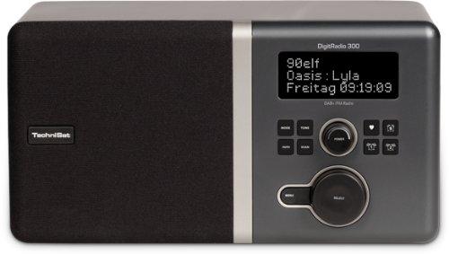 TechniSat 0000/4954 DigitRadio (300 DAB+ und UKW-Empfang mit Spitzenklang durch Equalizer & integrierte Bassreflextube) silber/schwarz