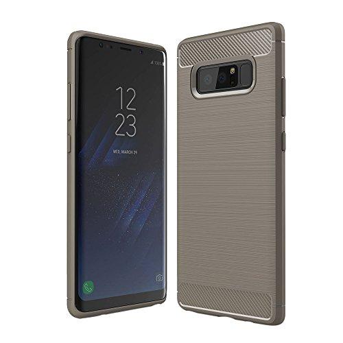 Saingace(TM) Schutzhülle für Samsung Galaxy Note 8, Dünn Hülle Carbon Fiber Streifen Handyhülle Kratzfest Stoßfest Case Cover Anti-Rutsch Anti-Scratch Hülle für Samsung Galaxy Note 8 -