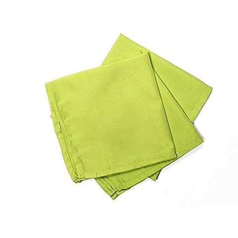 Soleil d'Ocre Lot de 3 serviettes de table ALIX anis