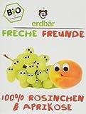 Erdbär Freche Freunde Bio Rosinchen und Aprikose, 3 Päckchen, 42 g