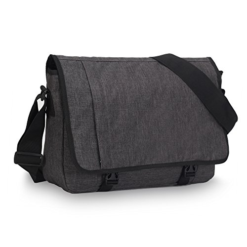 Veevan Casual Flap-Laptop-Schulter Messenger Bag 15-Zoll (Dunkelgrau)