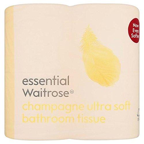 Ultra Weiches Toilettenpapier Champagner Wesentlich Waitrose 4 Pro Packung