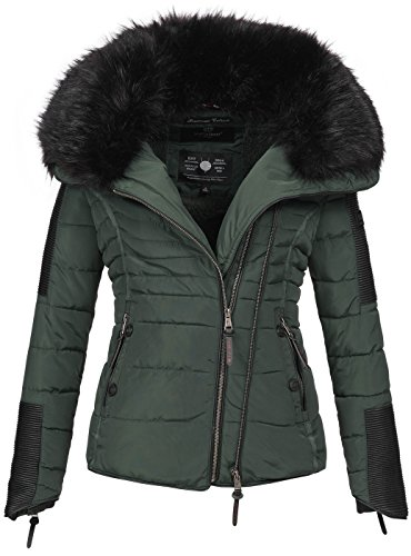 Navahoo donna inverno stepp giacca parka giacca invernale trapuntato giacca caldo b386 verde medium