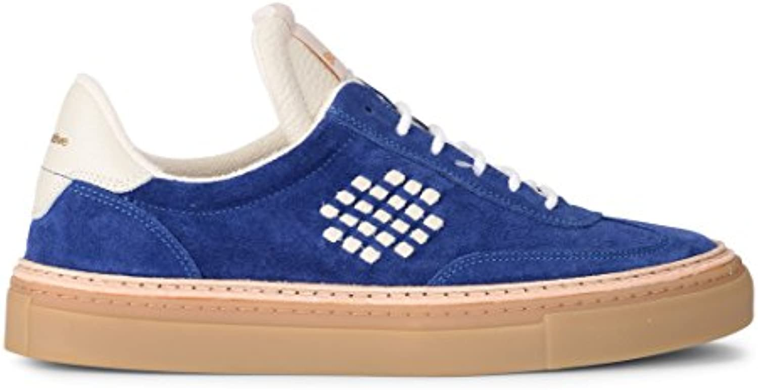 Sneaker Be Positive Roxy in Suede BLU e Pelle Panna -
