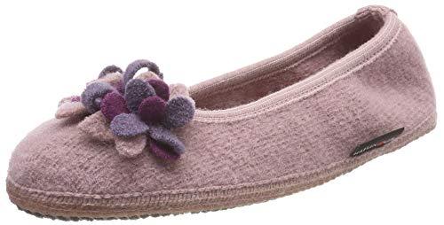 Haflinger Damen Marina-Blüten Slipper Niedrige Hausschuhe, Pink (Rosenholz 83), 40 EU