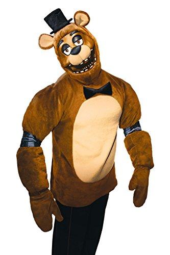 Freddy Erwachsenen Kostüm Fünf Nächte bei Freddy Plüsch Kostüm Top Pad und Maske Gr. One Size, braun (Foxy Kostüm)