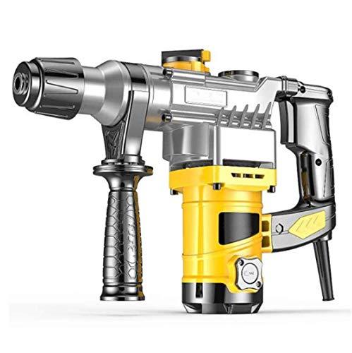 DiaoZhaTian 2-in-1-Bohrhammer 1200 W, elektrischer Bohrhammer, 2 Modi, 360 ° drehbarer Zusatzhandgriff, für Beton, GFK usw.