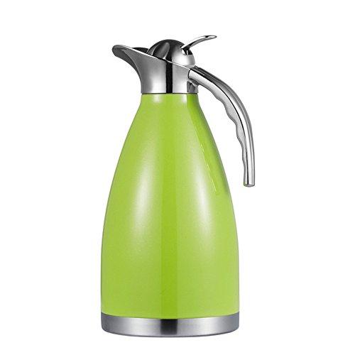 Haosens 1.5L Edelstahl Vakuum Isolierkanne Thermoskannen Kaffeekanne Isolierung Topf - Heiß und kalt dual Gebrauch (Grün)
