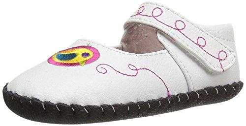 pediped Baby Mädchen Charlotte Lauflernschuhe, White (White Multi), 0-6 Monate (Pedipeds Schuhe Baby)