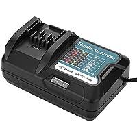 VBESTLIFE Cargador de Baterias de Herramienta Eléctrica Adecuado para Makita 10.8V / 12V Cargador Portátil Automático Inteligente para Batería de Litio con indicador LED(Negro)