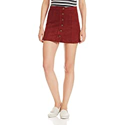 Forever 21 Women's Short Skirt (00216091031_0021609103_ RUST_1)