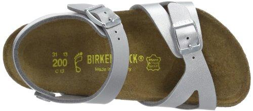 Birkenstock Rio Bf, Mules mixte enfant Argent (Silver)