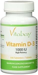 Vitamin D3 1000 I.E. (aus Flechten) - 100 Vegane Tabletten