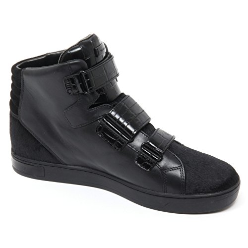 B8689 sneaker donna MICHAEL KORS RANDI scarpa nero high top shoe woman Nero