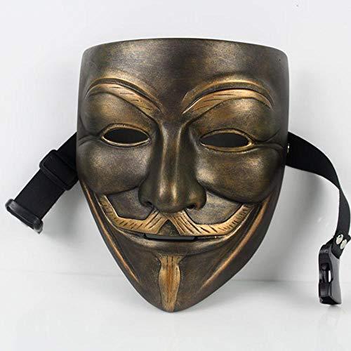 QJXSAN Horror Vendetta Maske Harz Maske Halloween Maske Film Horror Party Männer cosV Geek Maske