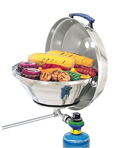 Magma A10-205CE-2 Original Size Type 2 Valve Marine Kettle Gas Grill with Hinged Lid