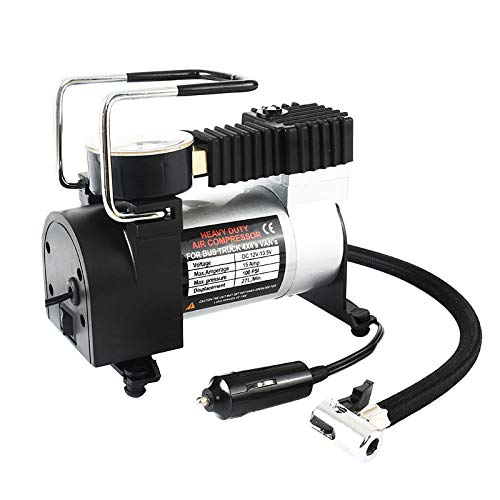 CUHAWUDBA 12V tragbare Auto elektrische Inflator Pumpe Luftkompressor 80PSI elektrische Reifen Reifen Inflator Pumpe Fuer Auto Fahrraeder Motorraeder