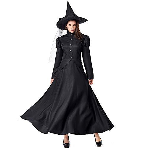 COSOER Wizard of Oz Witch Kostüm Für Eltern Und Kinder,Halloween Bühnenshow (Damen Wizard Of Oz Kostüm)