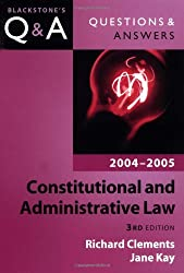 Questions and Answers: Constitutional and Administrative Law: Blackstone's Law Question and Answers (Blackstone's Law Questions and Answers)
