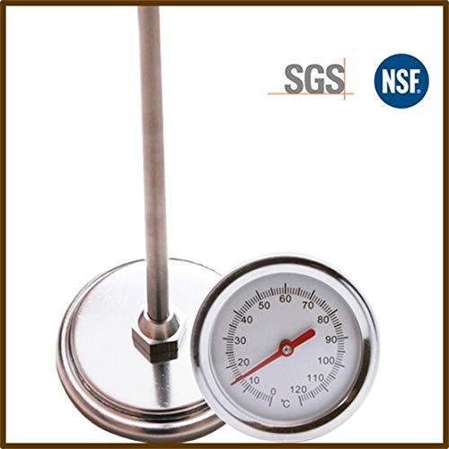 Sanzhileg 20 Pouces 50cm Longueur 0 ℃ -120 ℃ Détecteur de sonde à mesurer en métal en Acier Inoxydable de qualité Alimentaire pour thermomètre de Sol Compost - Argent