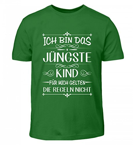 Hochwertiges Kinder T-Shirt - Ich Bin Das Jüngste Kind FÜR Mich GELTEN DIE Regeln Nicht