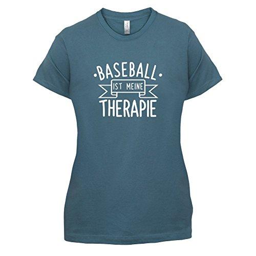 Baseball ist meine Therapie - Damen T-Shirt - 14 Farben Indigoblau