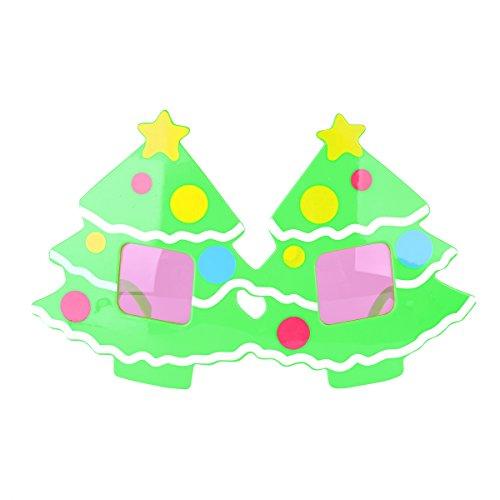 Tinksky Weihnachts-Party-Brillen-Sonnenbrille-Neuheit-Kostüm-Zusatz-Weihnachtsbaum-Gläser spezifiziert Partei-Foto-Stand-Stützen