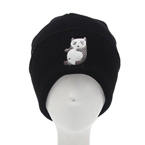 Preisvergleich Produktbild URIBAKY Männer Frauen Mütze Stricken Ski Cap Hip-Hop Winter Warme Unisex Wolle Hut (Schwarz)