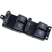 TOOGOO(R)Coche Potencia Ventana Panel Principal Control Consola Interruptor para VW Volkswagen 1999-2004 MK4 Golf Jetta Bora 1998-2004 1999 2000 2001 2002 2003 2004 98 99 00 01 02 03 04 Passat B5