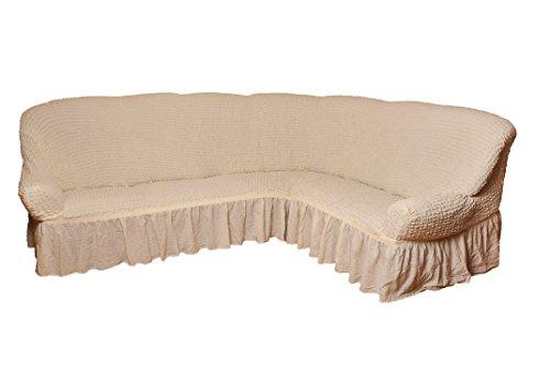 My Palace Funda para sofá esquinero de 2+ 3plazas en 7Colores, Beige, Variante B
