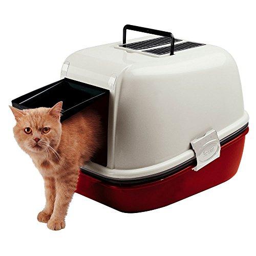 Katzentoilette schnell reinigend, 3-teilig inkl. Sieb, 55,5 x 45,5 x h 41 cm