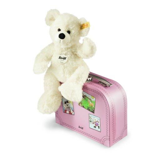Steiff 111563 - Teddybär Lotte 28 mit Koffer, weiß