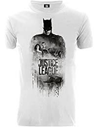 Justice League Unisex Batman Silhouette Grunge Team T-Shirt