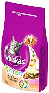 Whiskas Kitten Chicken Dry Mix 2 kg (Pack of 4) by Mars Petcare Ltd