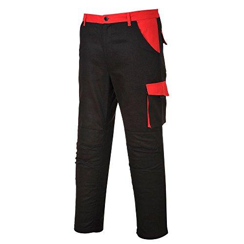 PORTWEST Pantalon de Travail coton poches genoux - Homme - S - Noir