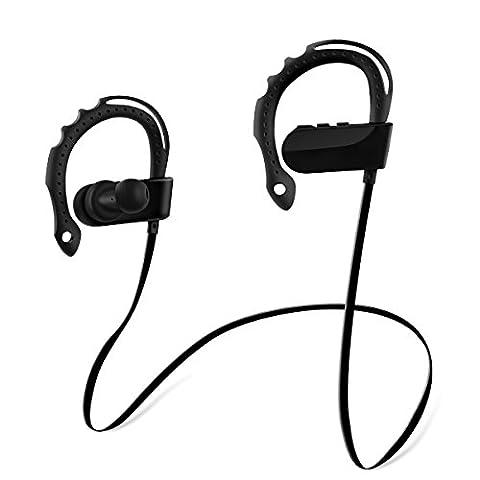 TAIR Wireless im Ohr hängen Kopfhörer, Bluetooth Kopfhörer, Sports Headset, Sports Stereo Kopfhoerer für Gym, Rennen, Training