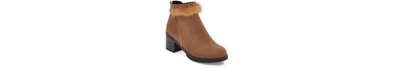 Botas cortas en el otoño, el talón talón, dulce, cremallera de damas botas desnudas,brown,38 -